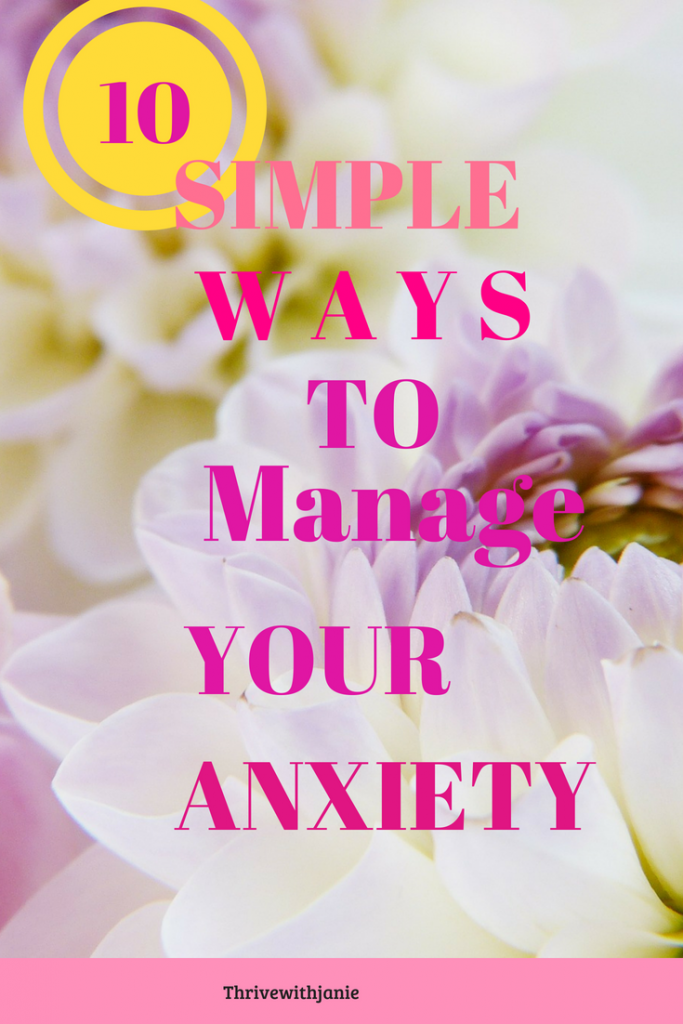 Simple ways to manage anxiety