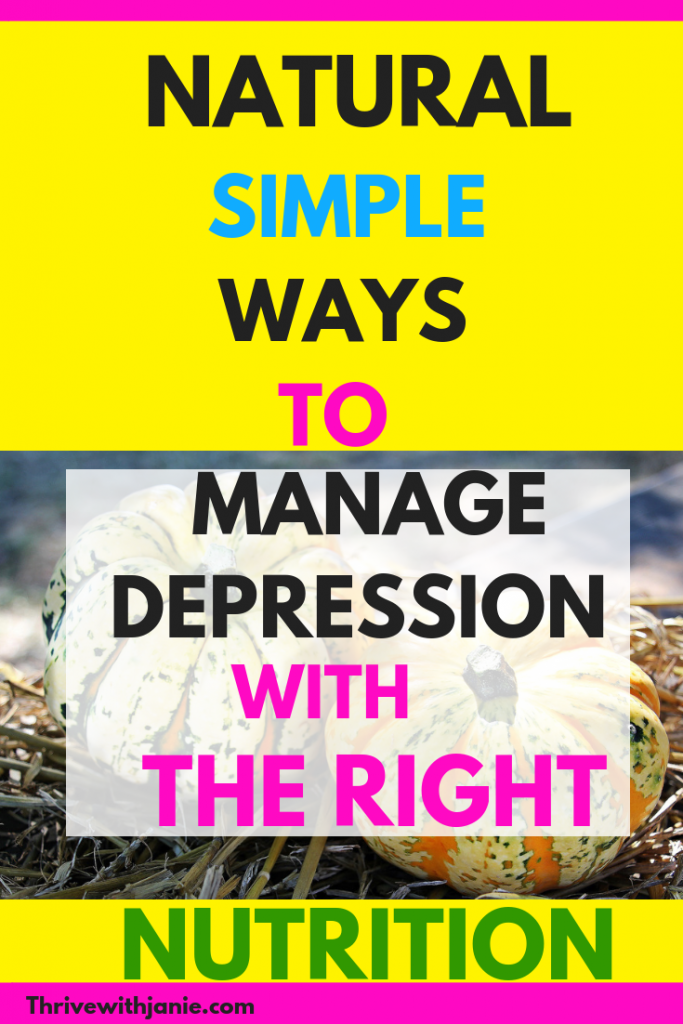 how to mamge depression with the right nutrition