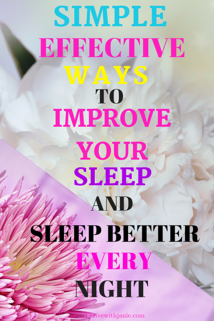 simple ways to improve your sleep
