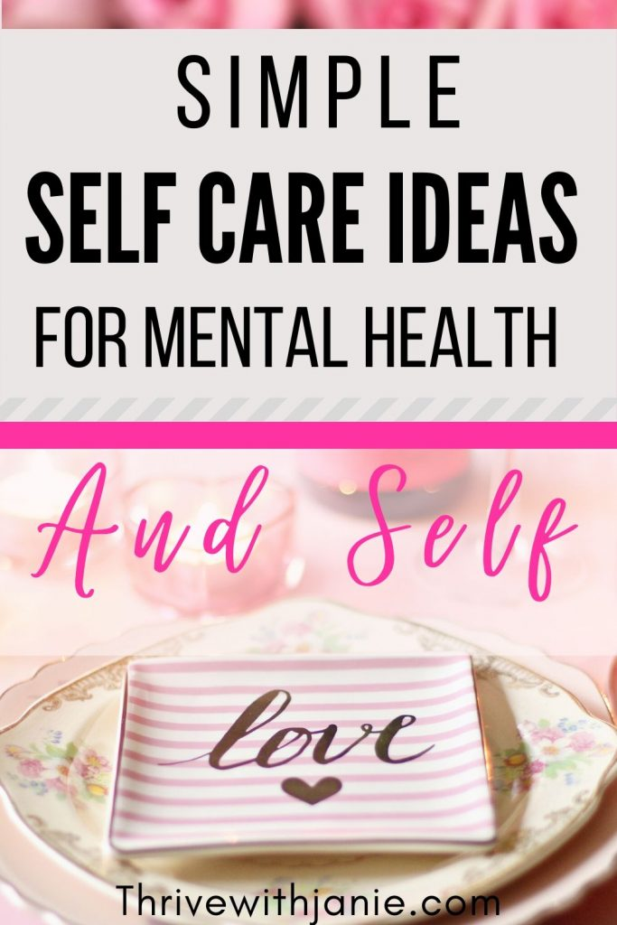 Seld ideas for better mental health