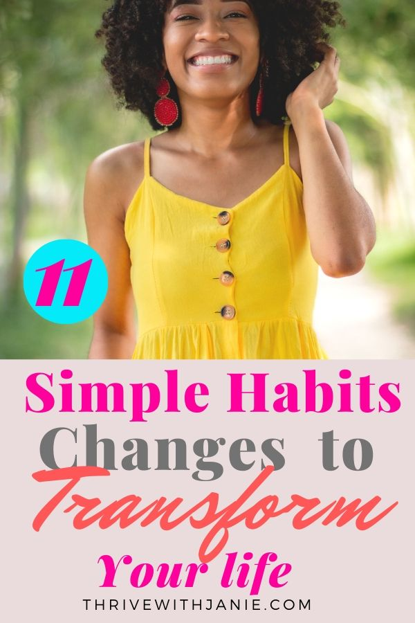 11 simple good habits to change their life