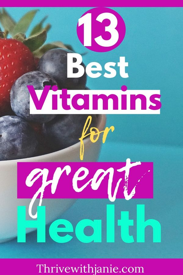 13 Best vitamins for best health