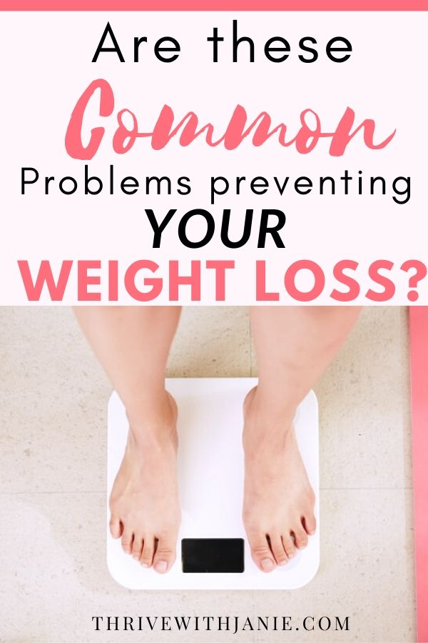 Common problems preventing weight loss