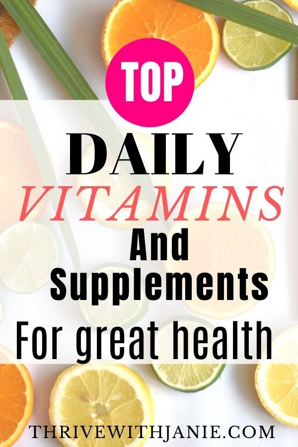 Best  vitamins for great helth