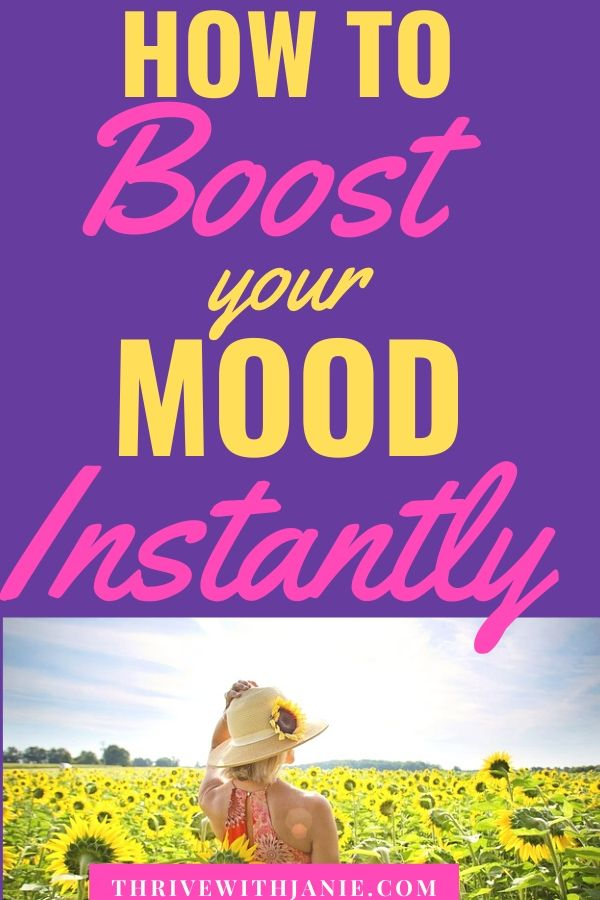How to boost your mood instantly