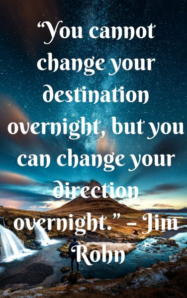 to succeed know when to change direction