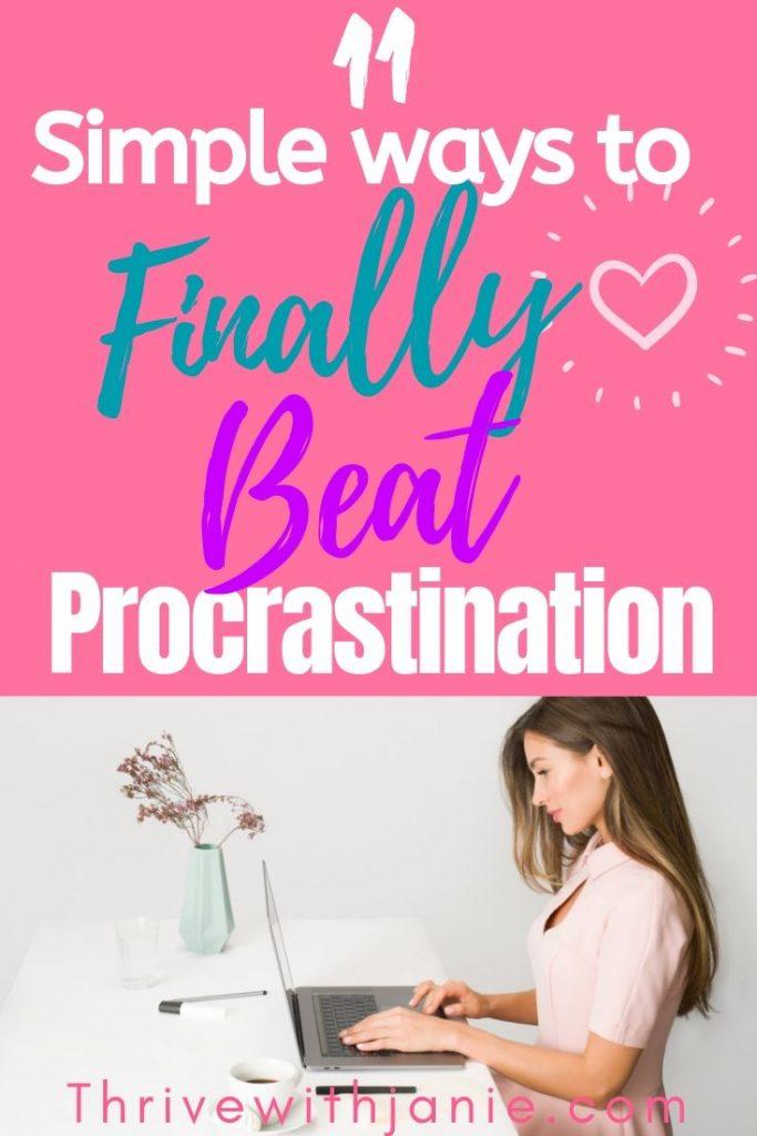 How to finally stop procrastination