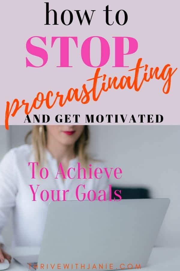 How to stop the procrastination habit