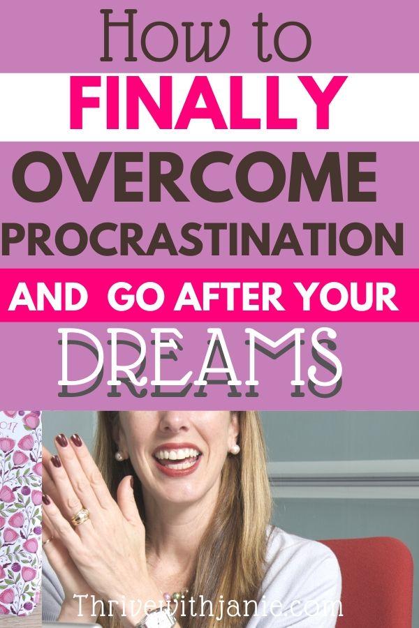 how to oversome procrastination