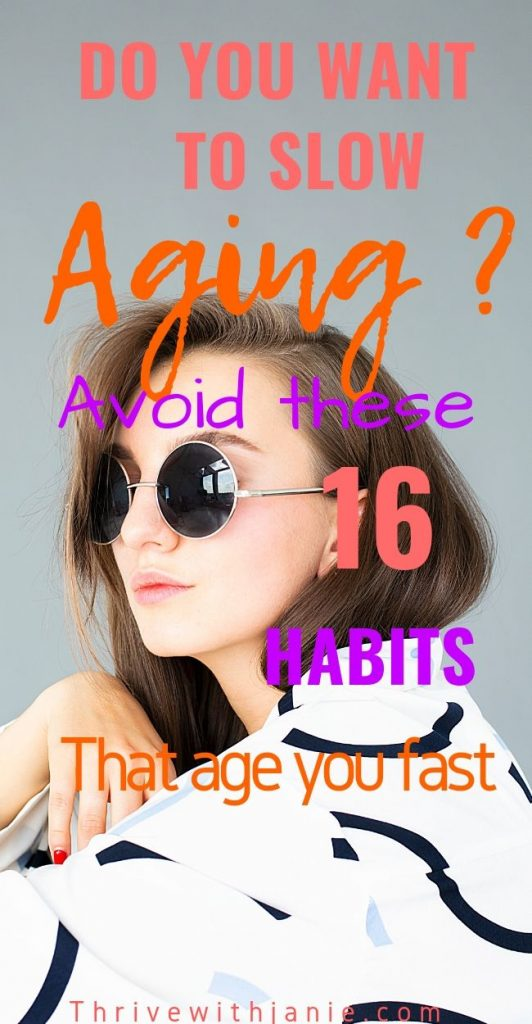 habits to avoid to sow aging