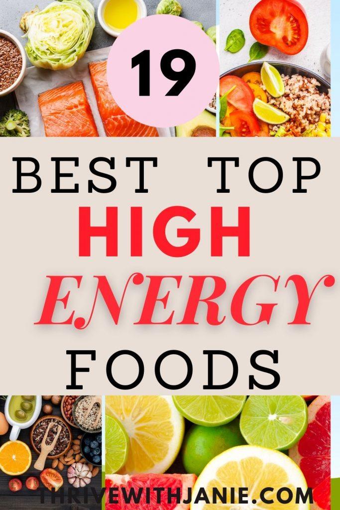 19 best high energy foods