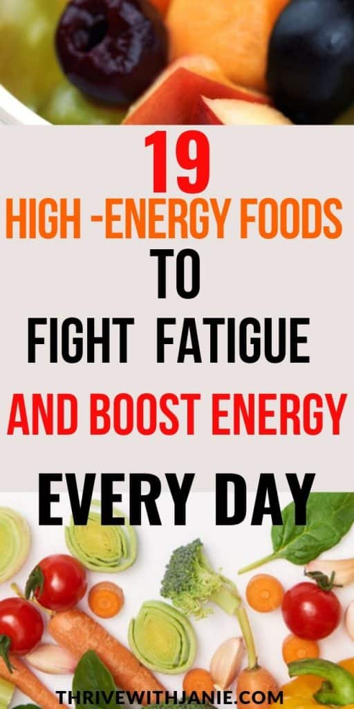 19 high energy foods