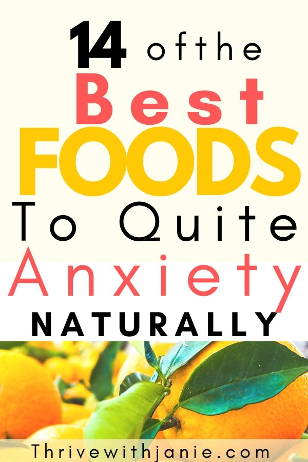 The best food to calm anxiety naturally