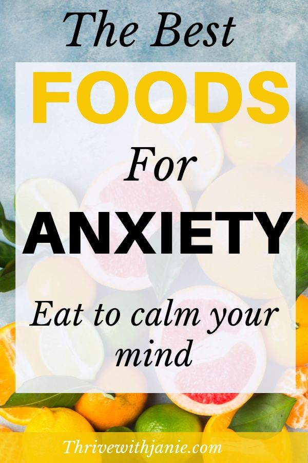 food that calms anxiety and stress