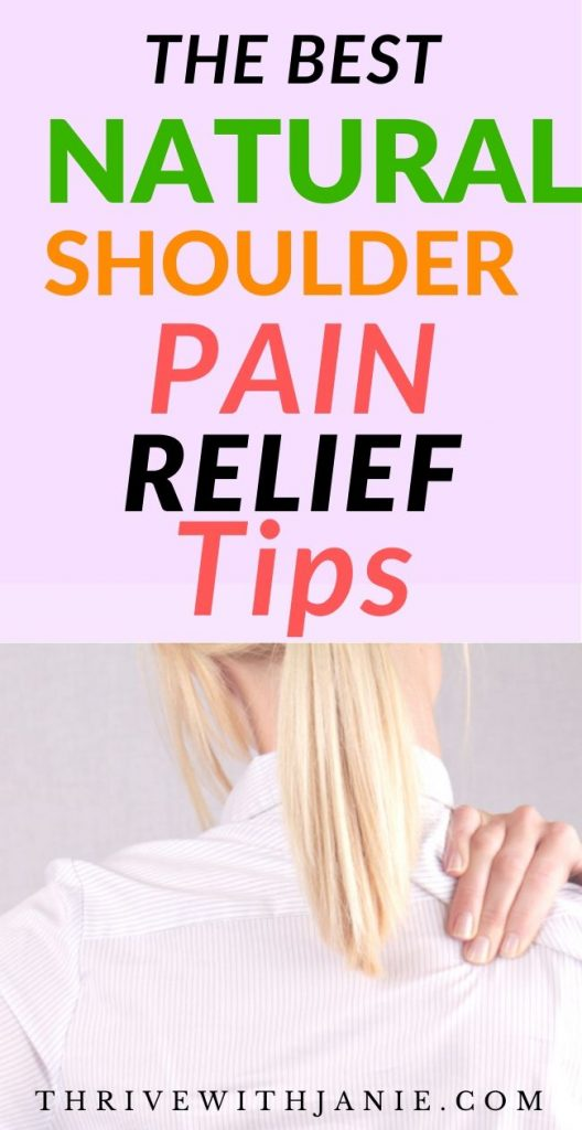 How to relieve chronic should pain naturally