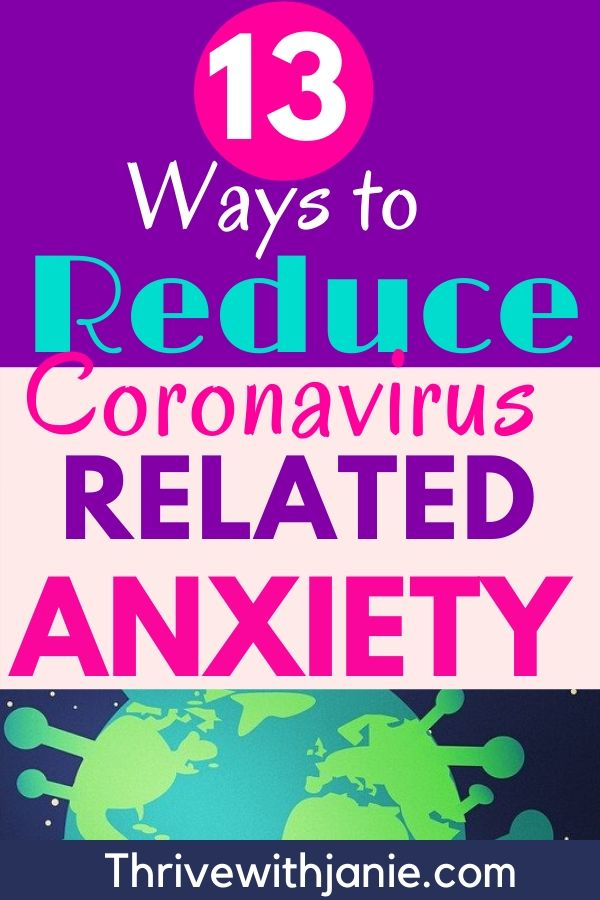 How to reduce coronavirus anxiety
