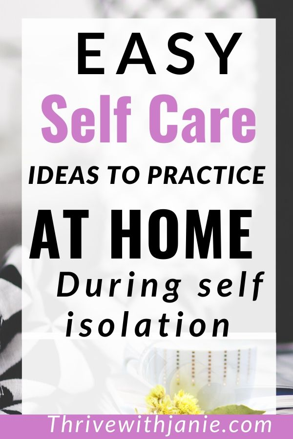 how to practice self care during self isolation