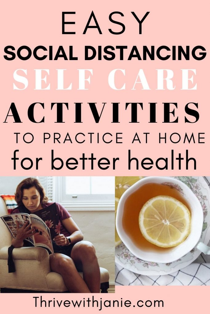 Scoical distacing activites for self care