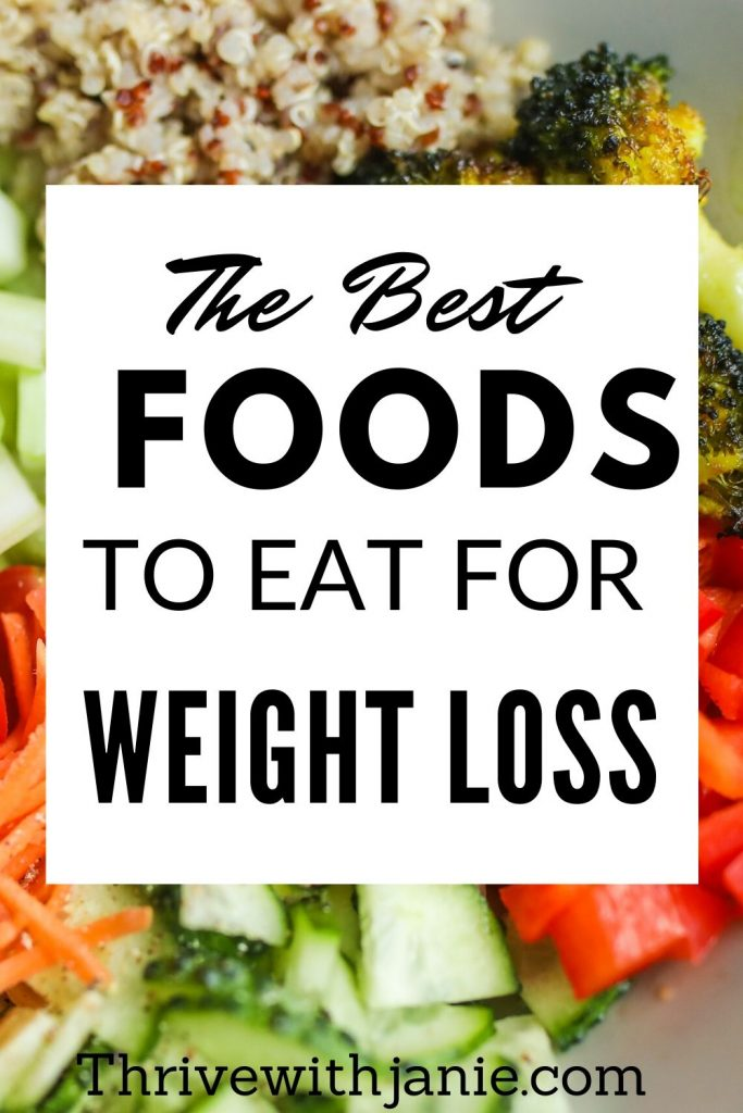 best foods to ear for weight loss