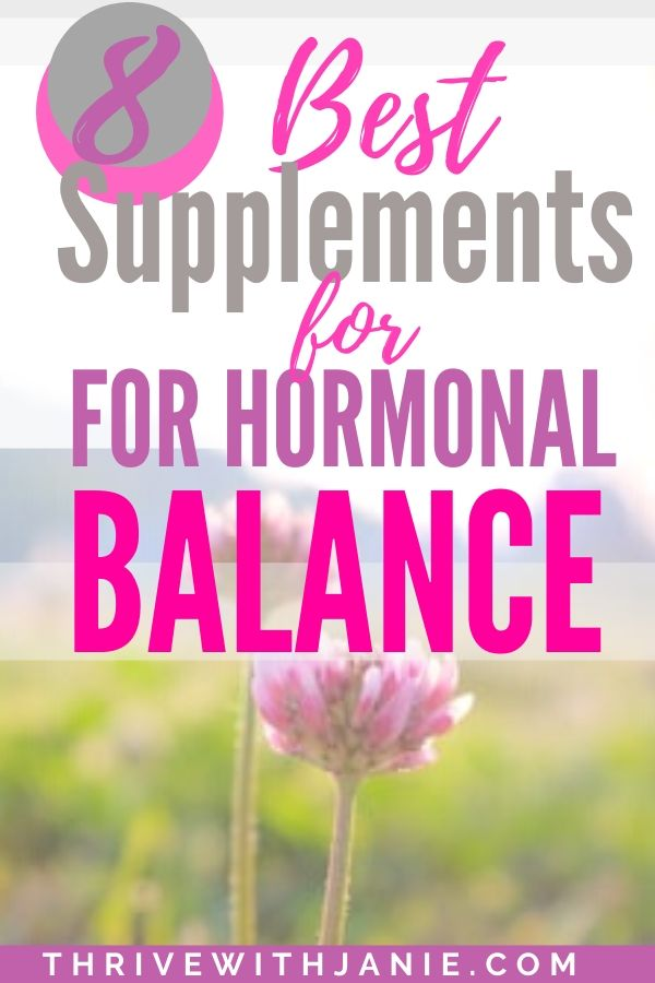 Best vitmains and supplements for hormonal health