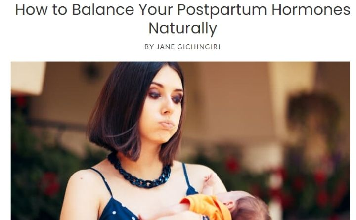 How to Balance Your Postpartum Hormones Naturally