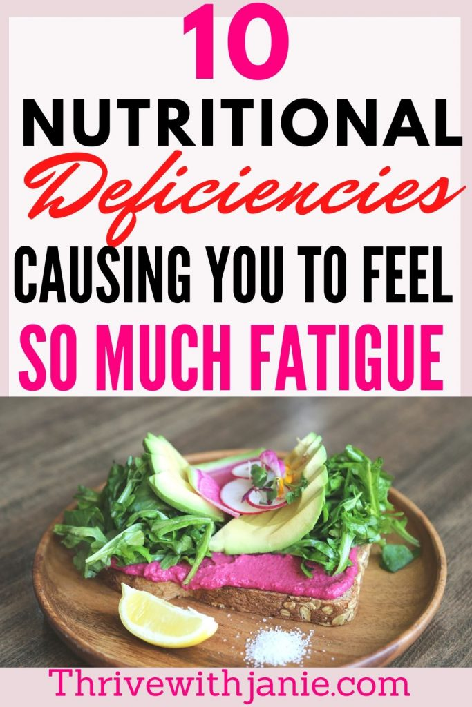 Nutrient deficiencies causing you fatigue