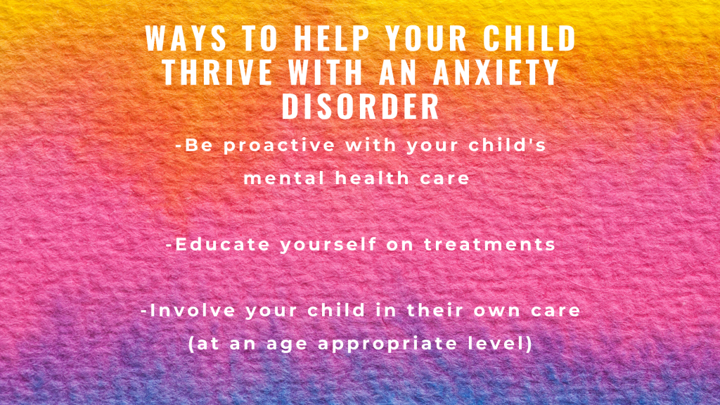 Helping your child with an anxiety disorder