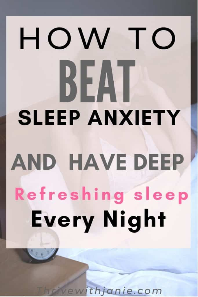 How to cope and beat sleep anxiety