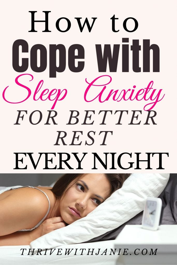 coping with sleep anxiety