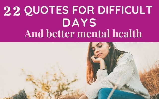 Uplifting quotes for mental health