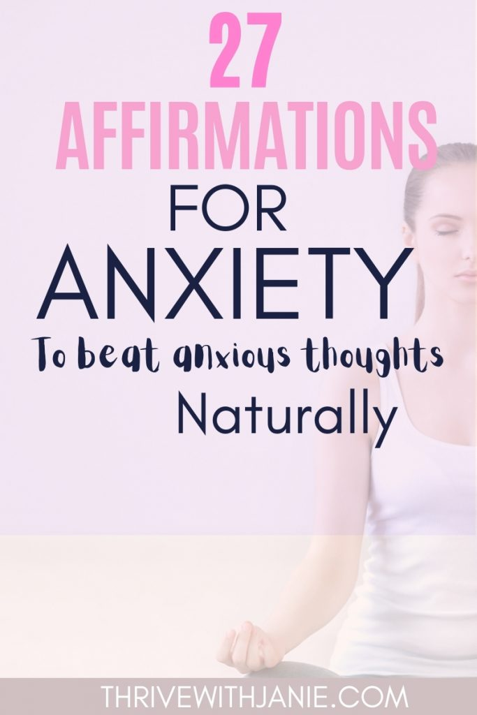 Affirmations for anxiety
