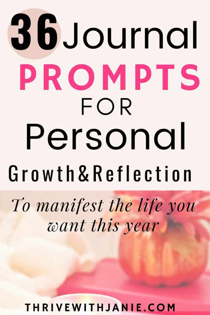 Journal prompts for personal growth and self reflection