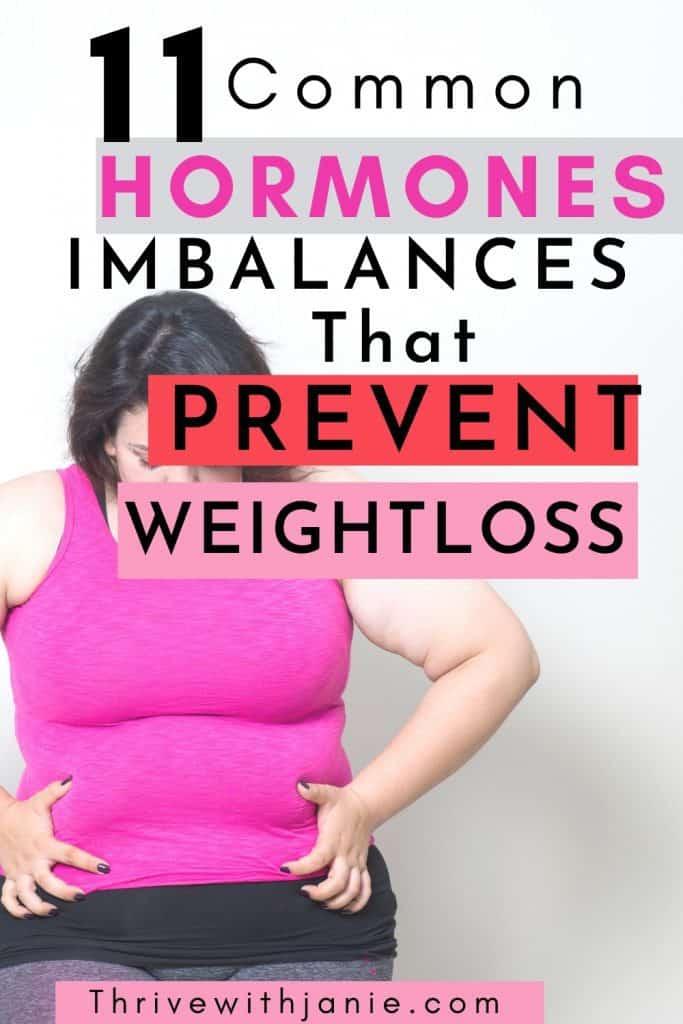 hormones that prevent weight loss  es