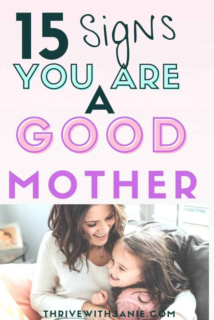 signs of good mother
