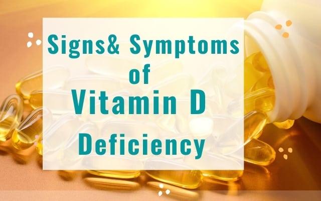 Sins and symptoms of vitamin D deficiency