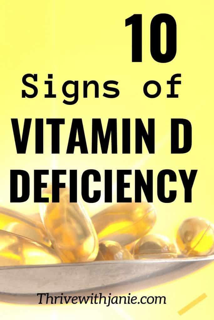 Signs of vitamin D deficiency