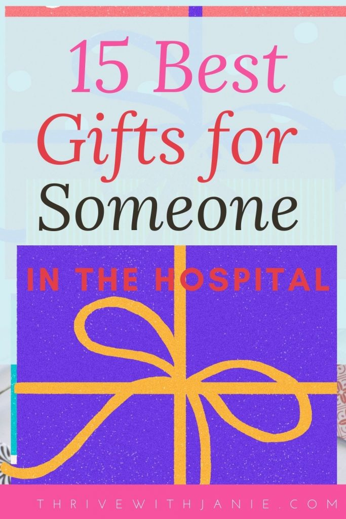 The best gifts to give soemoen in the hospital